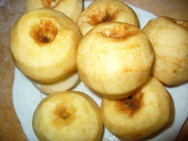 Uprażone jabłka do słoików