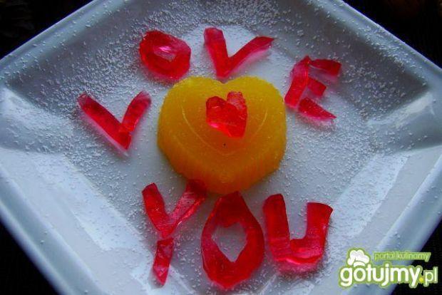 Walentynka z pomarańczowej galaretki