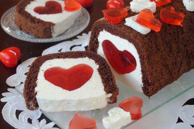 Walentynkowe ciasto - Życzę wszystkim niezapomnianych walentynek
