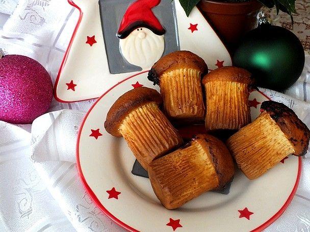 Waniliowe grzybko - muffinki z powidłami