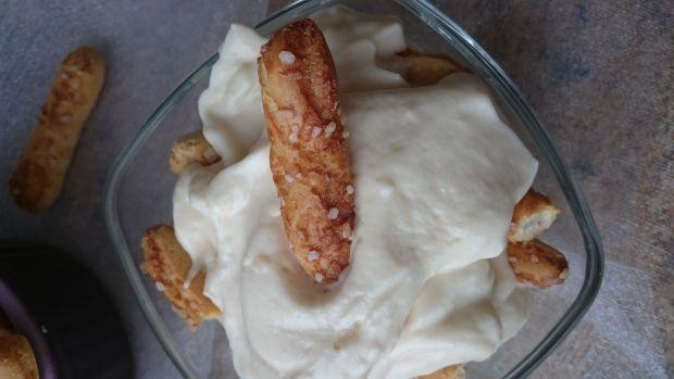 Waniliowy deser/krem z budyniu i białego sera