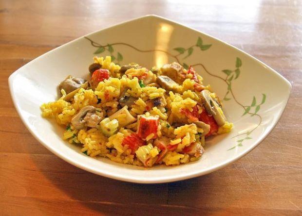 wariacje na temat ryżu z pieczarkami II