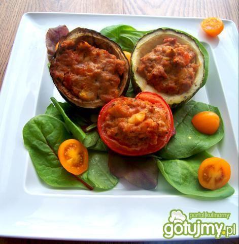 Warzywa faszerowane zapiekane