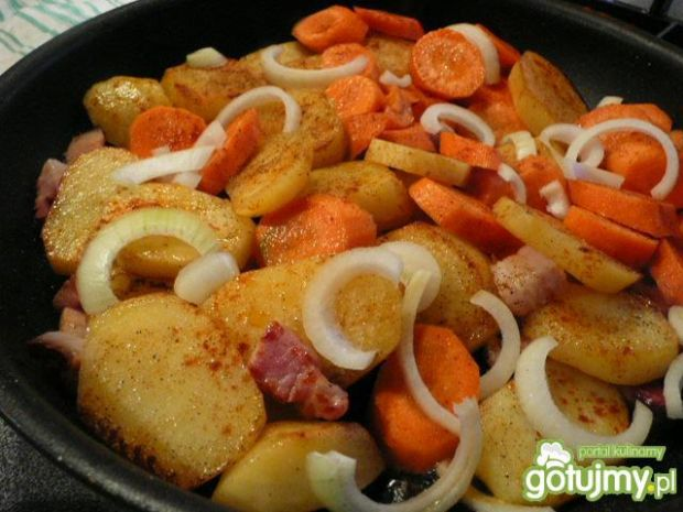 Warzywa z boczkiem do lub na obiad