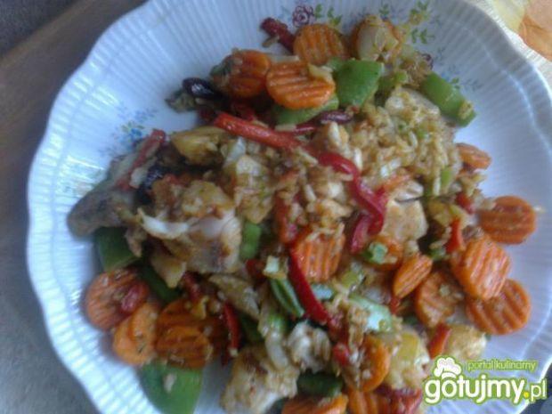 Warzywa z kaczuszką