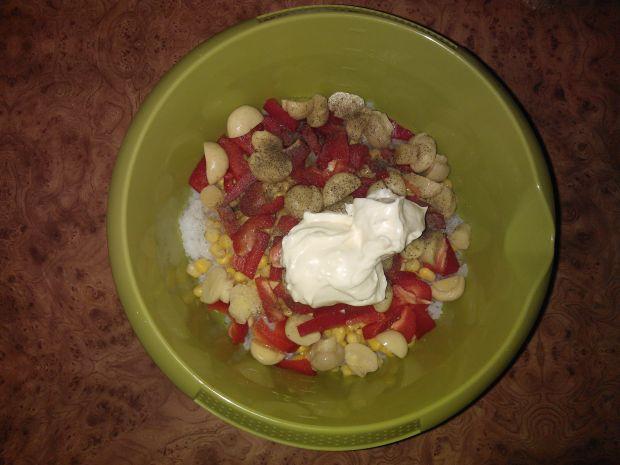 Warzywna sałatka z ryżem
