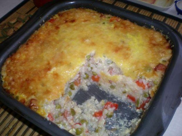 Warzywna zapiekanka z ryżem