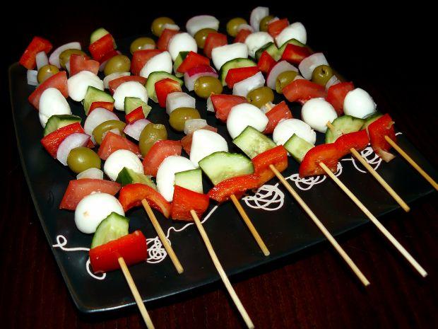 Warzywne Szaszłyki z Mozzarellką