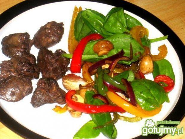 Wątróbka z warzywami z Tefal ActiFry