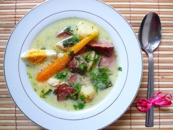 Wędzona zupka chrzanowo- ziołowa