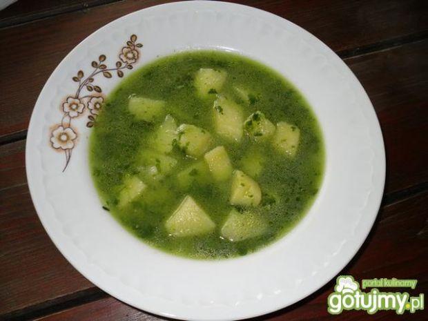 Wegańska zupa ze szpinakiem