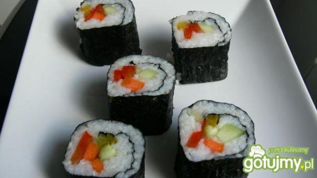 Wegańskie łagodne sushi