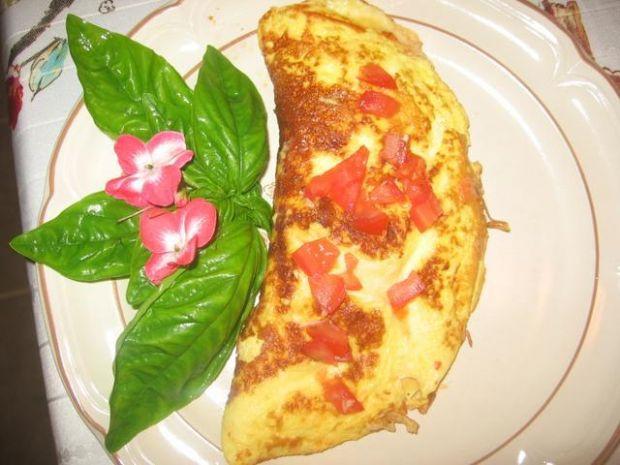 Western omlet z serem mozzarella