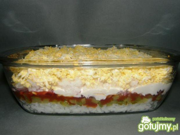 wielowarstwowa sałatka ryżowa