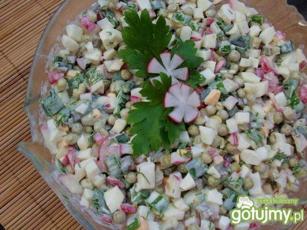 Wiosenna salatka jajeczna.