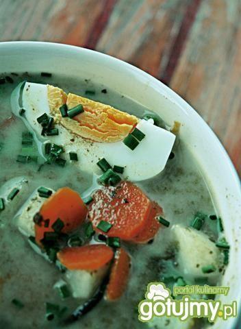 Wiosenna zupa szczawiowa z jajkiem