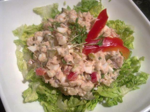 Wysokobiałkowa sałatka z tuńczyka