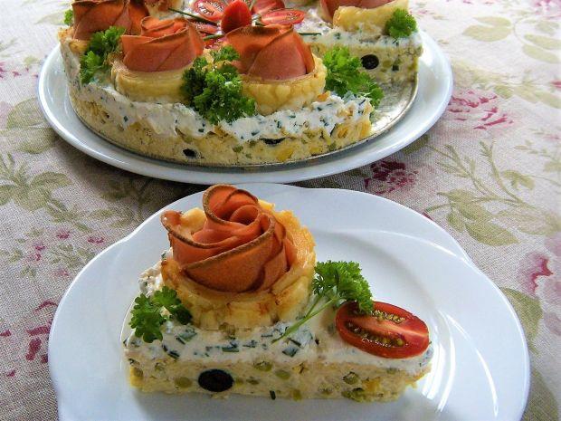 Wytrawny tort makaronowy