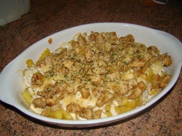 Yellow chicken meal
