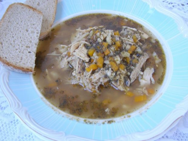 Z rosołowego mięsa zupa pyszna a`la flaki
