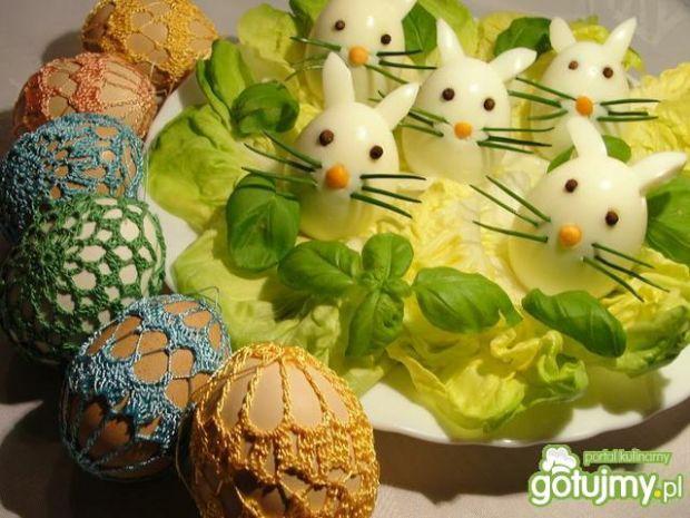 Zajączki wielkanocne z jajka