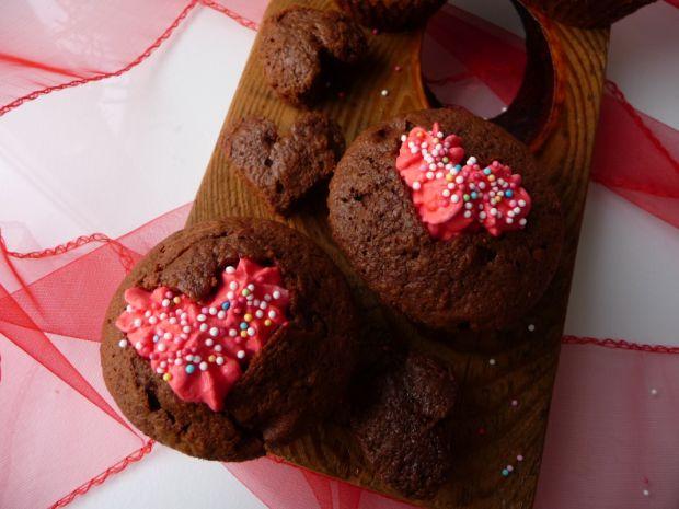 Zakochane muffinki podwójnie czekoladowe