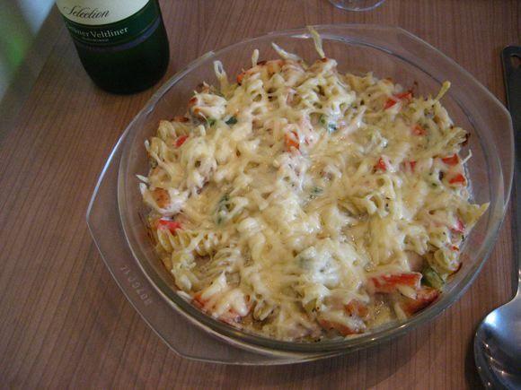 Zapieczony kurczak z gorgonzolą