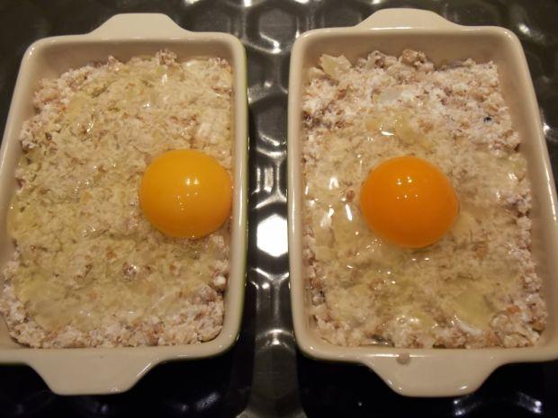 Zapiekana kasza gryczana z twarogiem i jajkiem