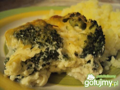 Zapiekana ryba z brokułami i porem