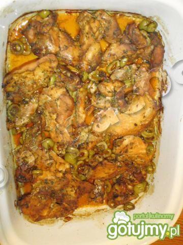 Zapiekane filetowane ćwiarki kurczaka