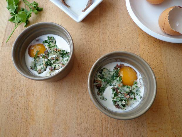 Zapiekane jajka z anchois