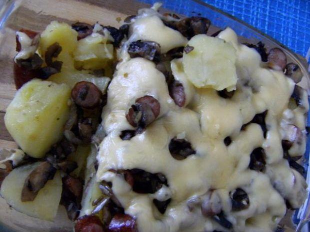 Zapiekane ziemniaki z kabanosami