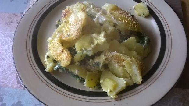 Zapiekane ziemniaki ze szpinakiem