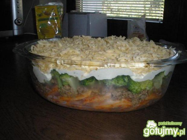 Zapiekanka brokułowa z mięsem mielonym