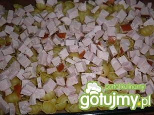 Zapiekanka makaronowa z szynką i serem