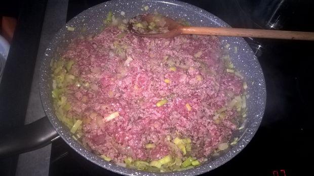 Zapiekanka makaronowa z wołowiną