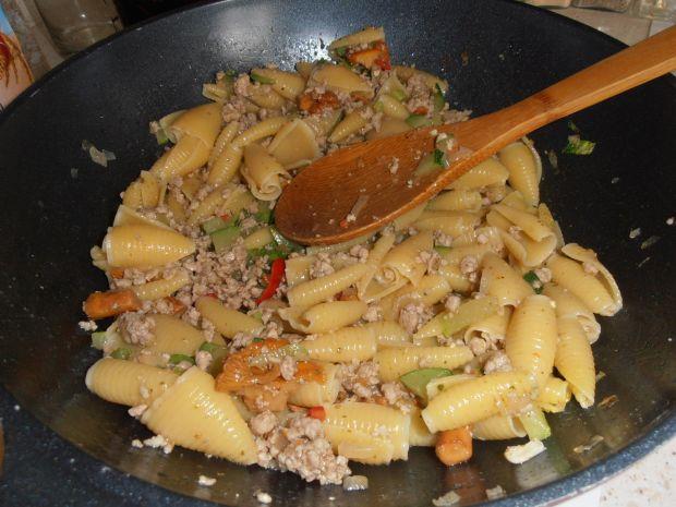 Zapiekanka mięsna z kurkami