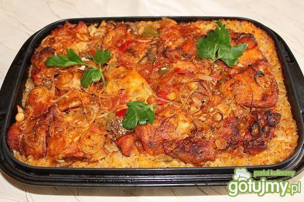 Zapiekanka ryżowo - mięsna