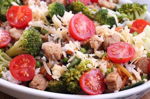 Zapiekanka sojowa z ryżem