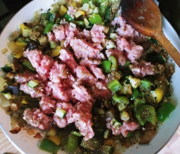 Zapiekanka warzywno - mięsna a'la bolognese