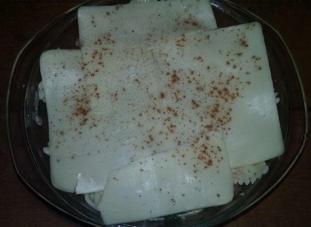 Zapiekanka z boczkiem i brokułem
