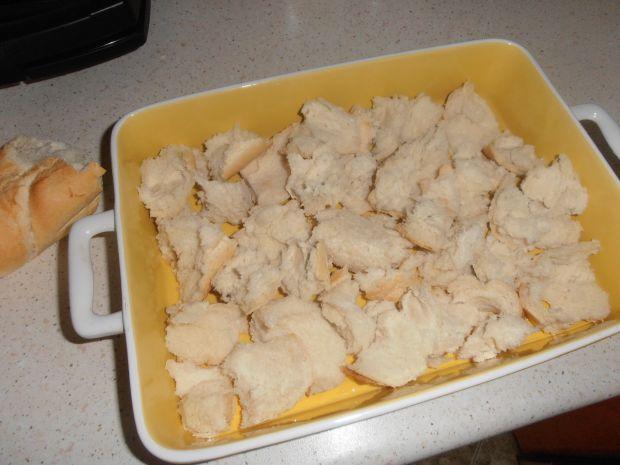 Zapiekanka z bułki paryskiej z kurczakiem