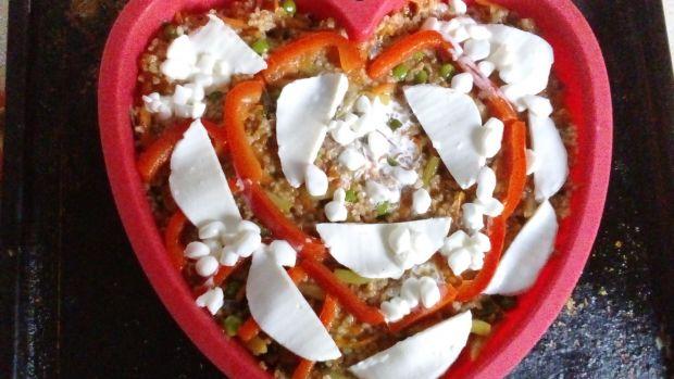 Zapiekanka z kaszy orkiszowej z warzywami