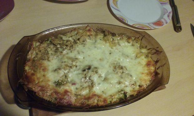 Zapiekanka z kurczakiem i mozzarellą