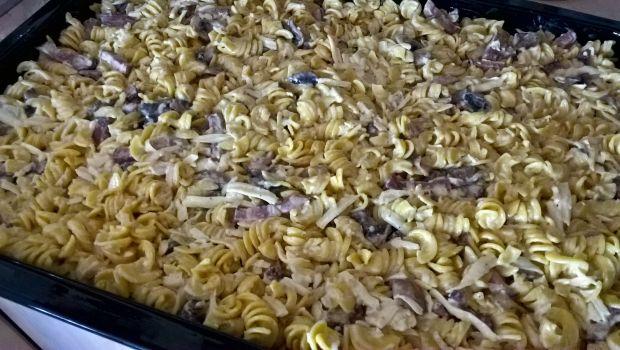 Zapiekanka z makaronu kukurydzianego