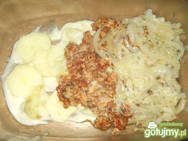 Zapiekanka z mięsem mielonym i kapustą