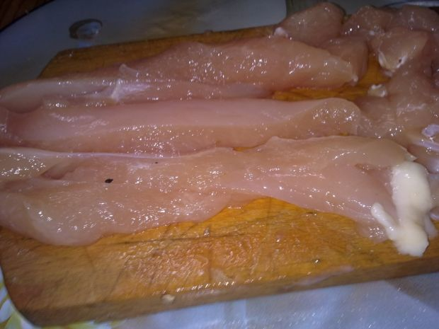 Zapiekanka z piersią kurczaka i porem