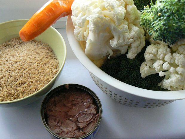 Zapiekanka z tuńczykiem ryżowa