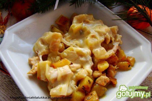 Zapiekanka ziemniaczana z serem i tymian