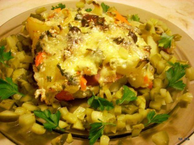 Zapiekanka ziemniaczano-marchewkowa